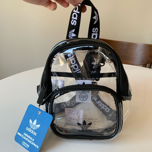 adidas clear backpack
